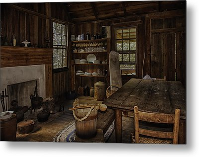 Vintage 1850s Cracker Kitchen Metal Print by Lynn Palmer