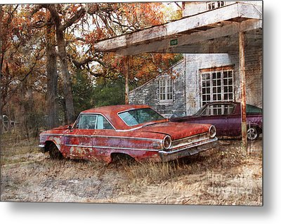 Vintage 1950 1960 Ford Galaxy Red Car Photo Metal Print by Svetlana Novikova