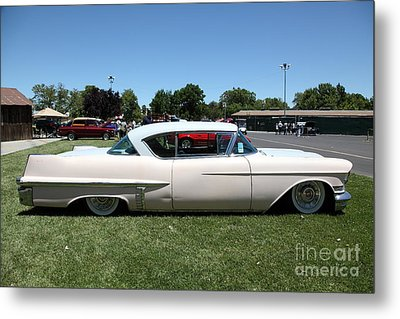 Vintage 1957 Cadillac . 5d16686 Metal Print by Wingsdomain Art and Photography