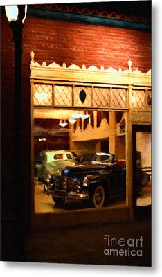 Vintage American Car Dealership - 7d17398 Metal Print by Wingsdomain Art and Photography