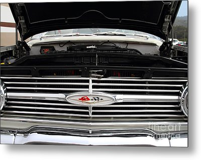 Vintage American Chevrolet Emblem And Grille 7d15159 Metal Print by Wingsdomain Art and Photography