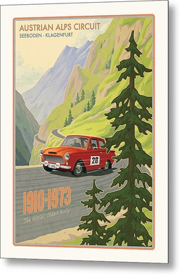 Vintage Austrian Rally Poster Metal Print