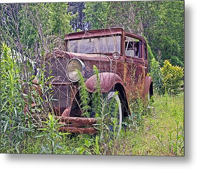Metal Print featuring the photograph Vintage Automobile by Susan Leggett