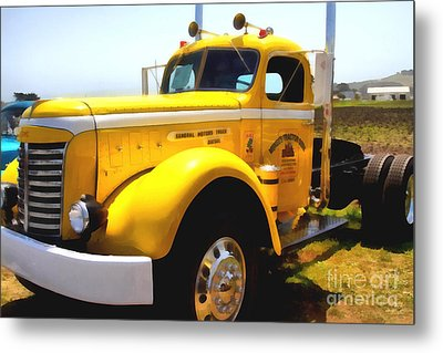 Vintage Big Rig . 7d15483 Metal Print by Wingsdomain Art and Photography