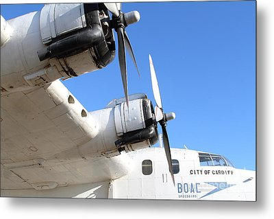 Vintage Boac British Overseas Airways Corporation Speedbird Flying Boat . 7d11265 Metal Print by Wingsdomain Art and Photography