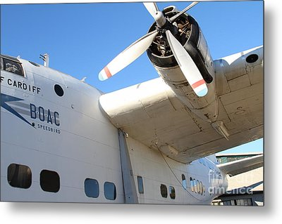 Vintage Boac British Overseas Airways Corporation Speedbird Flying Boat . 7d11279 Metal Print by Wingsdomain Art and Photography
