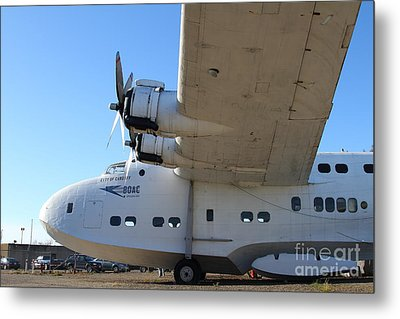 Vintage Boac British Overseas Airways Corporation Speedbird Flying Boat . 7d11291 Metal Print by Wingsdomain Art and Photography