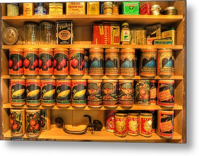 Vintage Canned Goods - General Store Vintage Supplies - Nostalgia Metal Print by Lee Dos Santos
