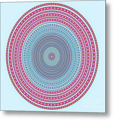 Vintage Color Circle Metal Print by Atiketta Sangasaeng
