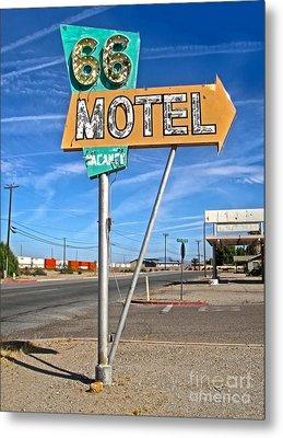 Vintage Desert Motel Sign Metal Print by Gregory Dyer