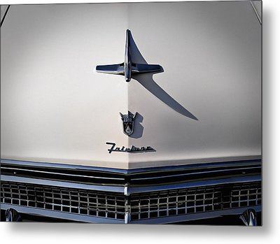 Vintage Ford Fairlane Hood Ornament Metal Print by Douglas Pittman