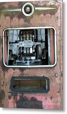 Vintage Gas Pump Metal Print by Alan Look
