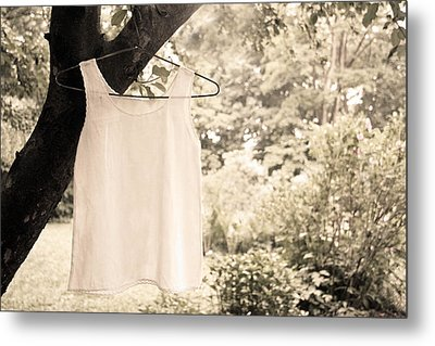 Metal Print featuring the photograph Vintage Linen Cami by Brooke T Ryan