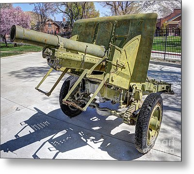 Vintage Military Howitzer  Metal Print by Gary Whitton