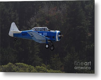 Vintage North American Snj-4 Us Navy Aircraft . 7d15627 Metal Print by Wingsdomain Art and Photography