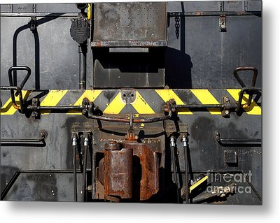 Vintage Railroad Train . 7d11601 Metal Print by Wingsdomain Art and Photography