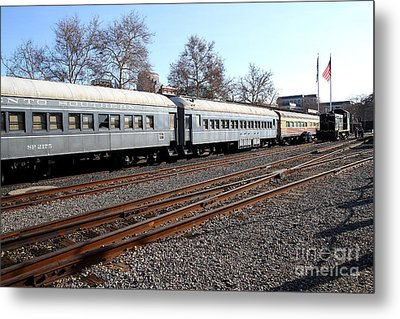 Vintage Railroad Trains . 7d11623 Metal Print by Wingsdomain Art and Photography