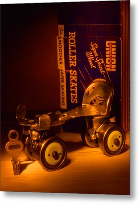 Vintage Roller Skates Metal Print by Jerry Taliaferro
