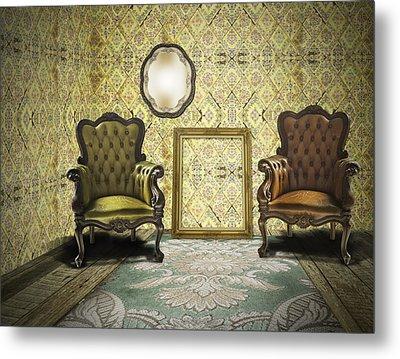 Vintage Room Interior Metal Print by Setsiri Silapasuwanchai