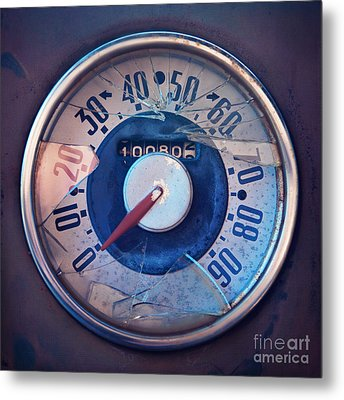 Vintage Speed Indicator  Metal Print by Priska Wettstein