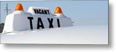 Vintage Taxi Metal Print by Theresa Johnson
