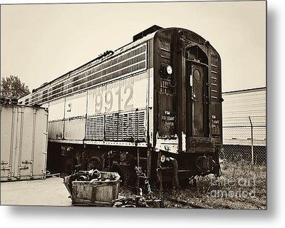 Vintage Train Boxcar Metal Print by Cheryl Davis