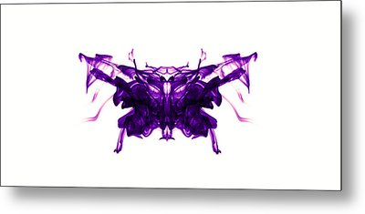Violet Abstract Butterfly Metal Print by Sumit Mehndiratta