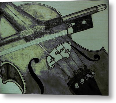 Violin Metal Print by Andrew Siecienski
