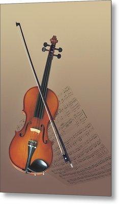 Violin Metal Print by Comstock