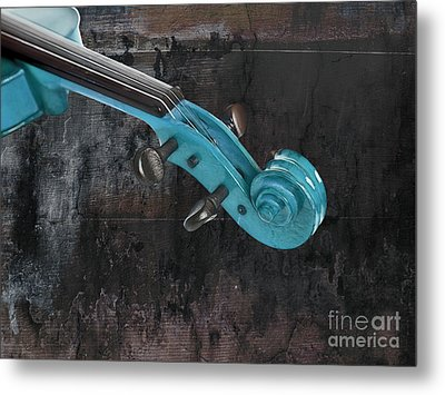 Violinelle - Turquoise 05a2 Metal Print by Variance Collections