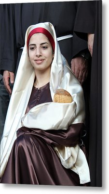 Virgin Mary And Baby Jesus At 4th Annual Christmas March Metal Print by Munir Alawi