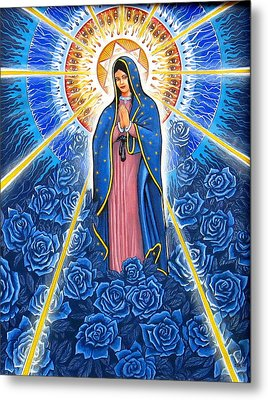 Virgin Of The Blue Roses Metal Print by James Roderick