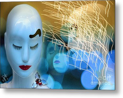 Metal Print featuring the digital art Virginal Shyness by Rosa Cobos