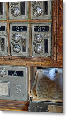 Virginia City Post Office Box Metal Print by Bruce Gourley