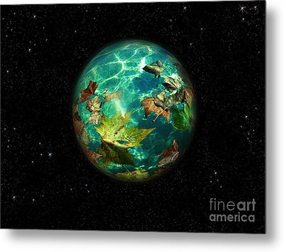Metal Print featuring the digital art Viriditas World by Rosa Cobos
