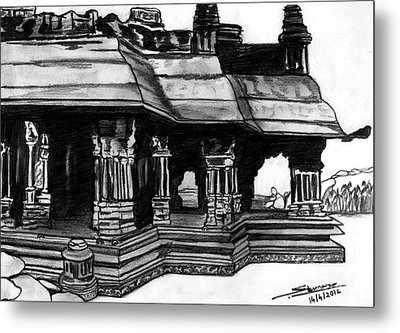 Vittala Temple Hampi Metal Print by Shashi Kumar