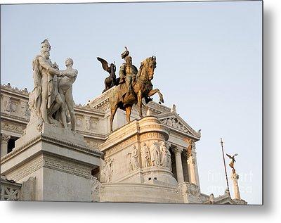 Vittoriano. Monument To Victor Emmanuel II. Rome Metal Print by Bernard Jaubert