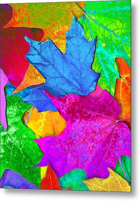 Metal Print featuring the photograph Vivid Leaves 2 by Ginny Gaura