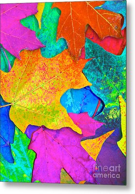 Vivid Leaves 3 Metal Print by Ginny Gaura