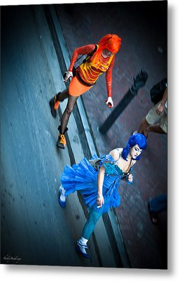 Metal Print featuring the photograph Vivid Vixens by Shelly Stallings