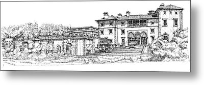 Vizcaya Museum And Gardens  Metal Print by Building  Art