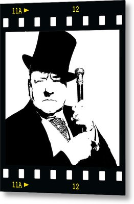 Metal Print featuring the painting W. C. Fields by Jann Paxton