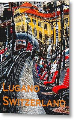Wacky Lugano Switzerland Metal Print