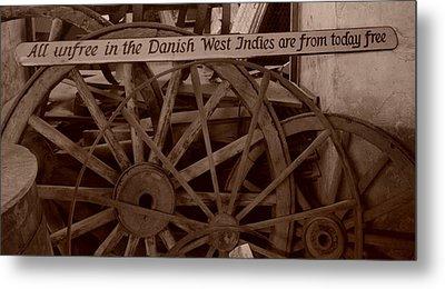 Wagon Wheels Of St. Croix Metal Print by Dennis Stein