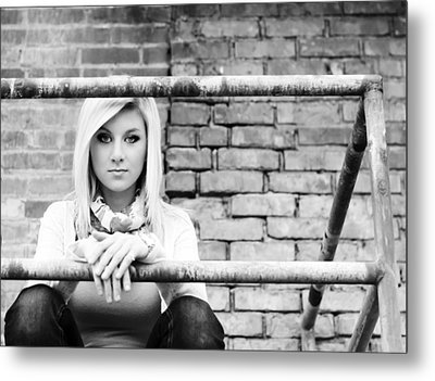 Waiting And Watching Metal Print by MaryJane Armstrong