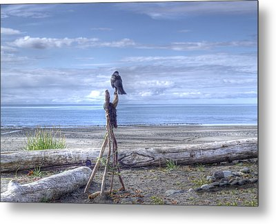 Metal Print featuring the photograph Waiting And Watching by Michele Cornelius