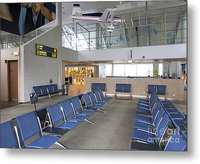 Waiting Area At An Airport Gate Metal Print by Jaak Nilson