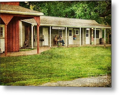 Waiting By The General Store Metal Print by Paul Ward