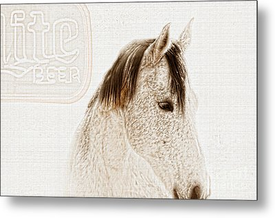 Waiting For A Beer Metal Print by Betty LaRue