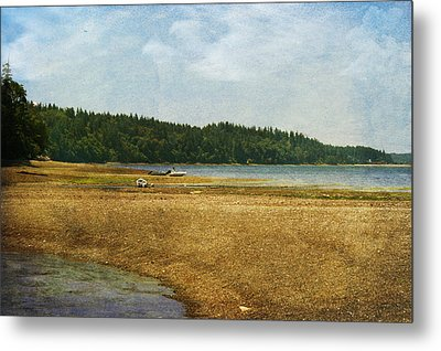 Waiting For The Tide Metal Print by Terrie Taylor